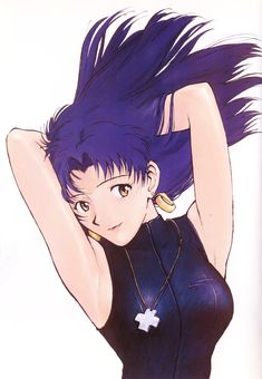 Tags: Neon Genesis Evangelion, Katsuragi Misato, Scan, Yoshiyuki Sadamoto, Gainax, Official Art, Manga Color