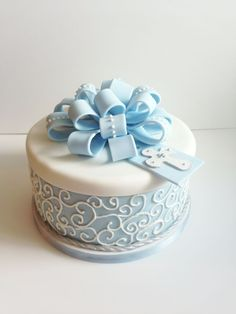 My Fatty Desires Baby Boy Cakes, Cakes For Boys, Baby Shower Cakes, Christian Cakes, Baby Boy Christening, Christening Cakes, Christening Photos, First Communion Cakes, Gateaux Cake