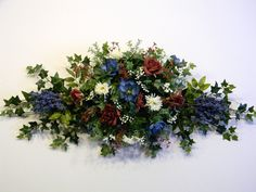 Country Dried Flower Swags | Floral Swag