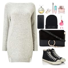 """""""Untitled #617"""" by alibasicamina ❤ liked on Polyvore featuring Miss Selfridge, Converse, Chloé, Saks Fifth Avenue, Maybelline and Burberry"""