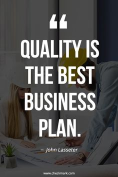 Quality is the Best Business Plan - John Lasseter inspirational quotes Small Business Quotes, Business Motivational Quotes, Inspirational Quotes, Business Inspiration, Motivation Inspiration, Quotes Motivation, Office Inspiration, Motivation Success, Digital Marketing Quotes