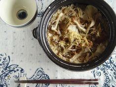 サバの味噌煮の缶詰を使った炊き込みご飯。具を前もって煮なくても良いので楽ちんです♪