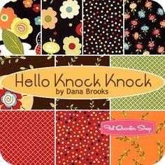 Hello Knock Knock Fat Quarter Bundle  Dana Brooks of Lazy Daisy Cottage for Henry Glass Fabrics   Hello Knock Knock Fat Quarter Bundle includes 10 fat quarters  $35.00