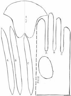 Винтажные перчатки 3