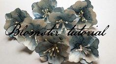 BLOMSTER TUTORIAL - DT KRISTINE Diy Flowers, Fabric Flowers, Fabric Flower Tutorial, Scrap, Tutorials, Plants, Cards, Handmade, Blog