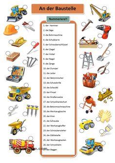 An der Baustelle - Werkzeuge