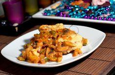 Veganer Teller: Überbackene Soja-Medaillons in Champignon Rahmsauce | VEGAN |