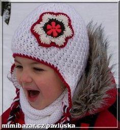 Návod na čepičku s tímto vzorkem tu už je 2x, ale dovoluji si vložit svou úpravu, aby Vám vzorek vyc... Crochet Beanie Hat, Beanie Hats, Crochet Hats, Girl With Hat, Caps Hats, Ale, Inspiration, Fashion, Beanies