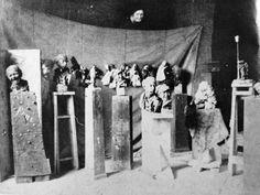 Rosso in his studio in Milan, 1883. From Margaret Scolari Barr, Medardo Rosso