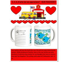"""Teacher Appreciation Week. Your teacher will love this unique and practical gift. This isn't just any other mug. Notes can be taken on this one.That's why this line is called """"Sip and Plan"""". See more at http://www.zazzle.com/mmmenagerie  Use code ZAZZLESPRING"""