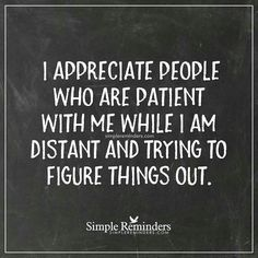 I appreciate people