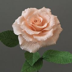 Crepe Paper Tea Rose Single Stem Wedding Flowers от NectarHollow