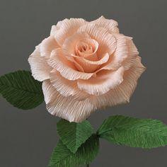 Crepe Paper Tea Rose Single Stem Wedding Flowers от NectarHollow