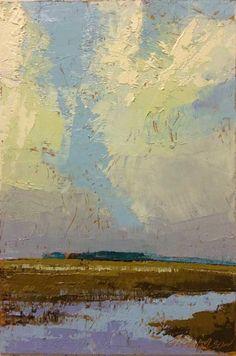"""Edisto, Morning at High Tide"", oil, 6 x 4"", © Mary Bentz Gilkerson"