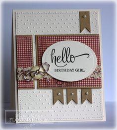 "Flourishes ""Hello Birthday Girl"" Card...Denise Marzer: The Paper Landscaper..."