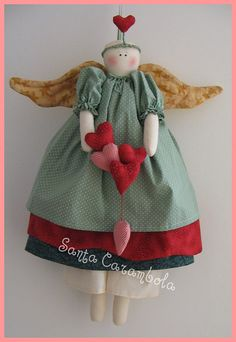 This angel is made with the bbw Tilda pattern.  Not that hard at all.