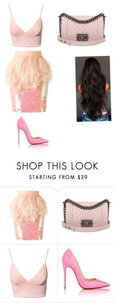"""Scream queens inspired"" by skkymirabella ❤ liked on Polyvore featuring Daizy Shely, Chanel, Dark Pink and Christian Louboutin"