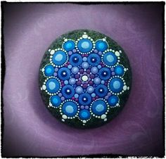 Jewel Drop Mandala Painted Stone- Snowflake