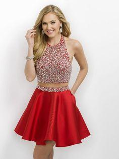 Blush Prom 203 Red Homecoming Dress