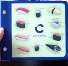 blue c sushi menu - Bing Images