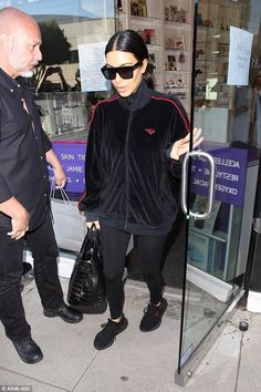 Chill: Just a day prior she was spotted leaving the Beauty Park Medical Spa with sister Kh...