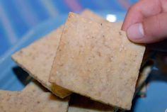 Paleo Sesame Crackers made with just 5 ingredients --almond flour, sesame seeds, egg, olive oil, and salt --are the perfect low-carb snack.