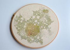Made By Hand Online - Stitched Map for commission by Archana Pathak at madebyhandonline