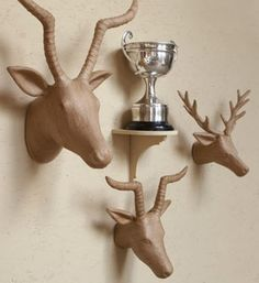 Heads and maybe a few ski trophies?