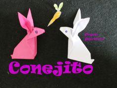 Origami - Papiroflexia. Tutorial: Conejito papel, Nivel medio facil