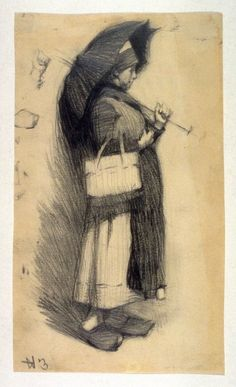 Edward Hopper - Woman with Umbrella (1904)