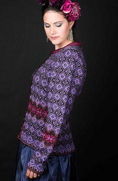 Ravelry: Fridas lilla drømmekofte pattern by Karihdesign Kari Hestnes Knit Patterns, Knits, Ravelry, Hooks, Needlework, Ruffle Blouse, Knitting, Purple, Projects