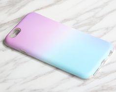 Gradient Pastel Pink Blue iPhone 7|6s Plus|SE|5 & Samsung Galaxy S8+|S7|S6 protective tough snap cases KB931
