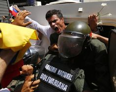 One of the leaders of the opposition, Leopoldo López, taken by the military on february 18th