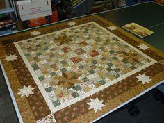 Quilt gemaakt van Engelse antiek stofjes,gekocht op de beurs in Veldhoven