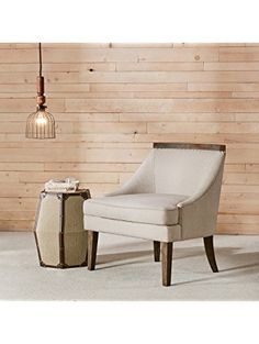 Madison Park Milo Reclaimed Trim Accent Chair Cream See below ❤ Madison Park