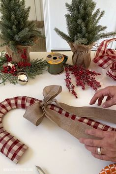 Dollar Tree Candy Cane Wreath - Mother Thyme