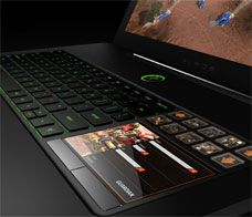 Razer's Blade, 17.3-inch gaming laptop with a full aluminum chassis. It has a Core i7 2640M processor (2.8GHz, 4MB cache), 8GB of DDR3-1333 memory, Nvidia GeForce GT 555M graphics, 256GB SATA III solid state drive, integrated digital 7.1 surround sound, a single USB 3.0 port, two USB 2.0 ports, HDMI output, GbE LAN, 802.11b/g/n Wi-Fi, Bluetooth, 2MP webcam, and Windows Home Premium 64 bit.The main feature, however, is the Switchblade user interface with 10 dynamic adaptive tactile keys