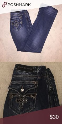 Rock Revival Jeans Worn once. Boot cut. Inseam around 34/35 Rock Revival Jeans Boot Cut
