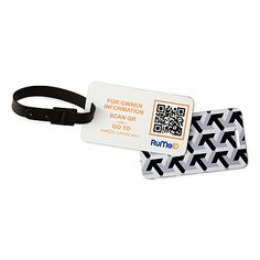 QR Code Luggage Tags - For the man who Travels