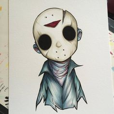 Another piece for SDCC. Jason Voorhees is easily becoming one of my favourite characters to draw. : Another piece for SDCC. Jason Voorhees is easily becoming one of my favourite characters to draw. Scary Drawings, Halloween Drawings, Cute Drawings, Arte Horror, Horror Art, Jason Drawing, Desenho New School, Horror Drawing, Illustrator