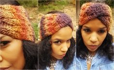 Basketweave Crochet Stitch Headband & Matching Cowl. Both created with twist. Showing in: Crystal Palace-Mochi Plus yarn