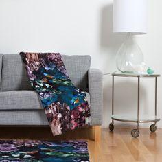 Kangarui Crystal Cave Fleece Throw Blanket | DENY Designs Home Accessories #blanket #sterling #crystal #cave