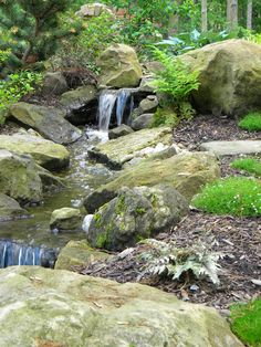 Need Some Quick Gardening Advice? Backyard Water Feature, Ponds Backyard, Backyard Waterfalls, Garden Ponds, Pond Landscaping, Landscaping With Rocks, Pond Design, Landscape Design, Quick Garden