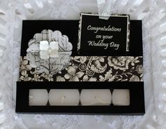Handmade wedding Card Tealight Candle Card gift by BellaBoutique23