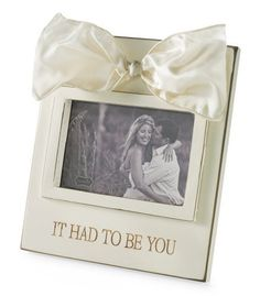 Mud Pie Frame, It Had to Be You  #WhimsicalUmbrella #Frame #Wedding #Gift whimsicalumbrella.com
