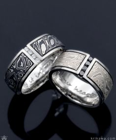 ring unique Unique ring in silver with solid ebony inlay goldsmithing crafts ebony ring precious gold jewelry