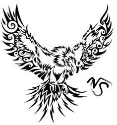 tribal tattoo stencils | Tribal Storm Phoenix by ~Sakashima on deviantART