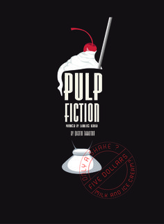 My own design for alternative pulp fiction poster