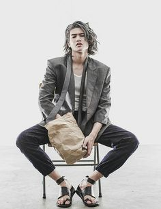 The handsome Gil Cuerva represented by IM Models stars in Mirage story captured by fashion photographer Rxandy Capinpin with graphics by Nixon Marquez. Mens Style Guide, Fresh Face, Editorial Photography, Celebrity Crush, Character Inspiration, Photoshoot, Mens Fashion, Long Hair Styles, Female