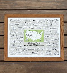 National Parks Print - 58 places to love